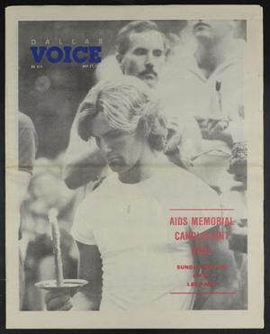 Primary view of object titled 'Dallas Voice (Dallas, Tex.), Vol. 5, No. 4, Ed. 1 Friday, May 27, 1988'.