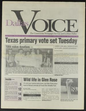 Primary view of object titled 'Dallas Voice (Dallas, Tex.), Vol. 8, No. 46, Ed. 1 Friday, March 6, 1992'.