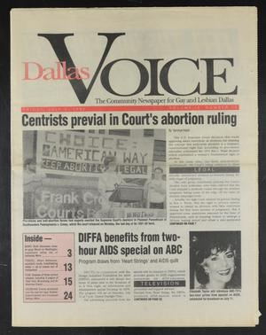 Primary view of object titled 'Dallas Voice (Dallas, Tex.), Vol. 9, No. 10, Ed. 1 Friday, July 3, 1992'.