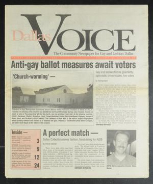 Primary view of object titled 'Dallas Voice (Dallas, Tex.), Vol. 9, No. 26, Ed. 1 Friday, October 23, 1992'.