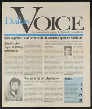 Primary view of object titled 'Dallas Voice (Dallas, Tex.), Vol. 13, No. 8, Ed. 1 Friday, June 21, 1996'.