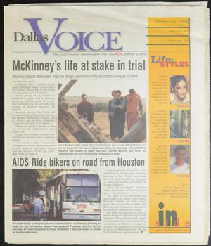 Primary view of object titled 'Dallas Voice (Dallas, Tex.), Vol. 16, No. 24, Ed. 1 Friday, October 15, 1999'.