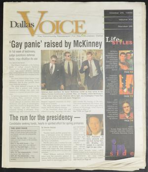 Primary view of object titled 'Dallas Voice (Dallas, Tex.), Vol. 16, No. 26, Ed. 1 Friday, October 29, 1999'.