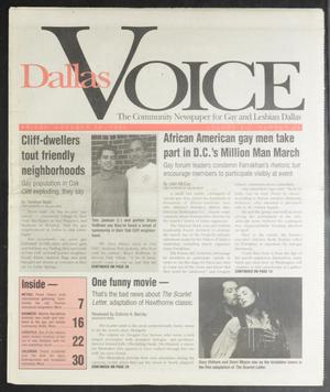 Primary view of object titled 'Dallas Voice (Dallas, Tex.), Vol. 12, No. 25, Ed. 1 Friday, October 20, 1995'.
