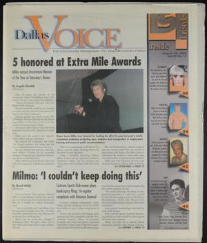 Primary view of object titled 'Dallas Voice (Dallas, Tex.), Vol. 20, No. 17, Ed. 1 Friday, August 22, 2003'.
