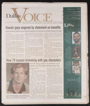 Primary view of object titled 'Dallas Voice (Dallas, Tex.), Vol. 14, No. 17, Ed. 1 Friday, August 22, 1997'.