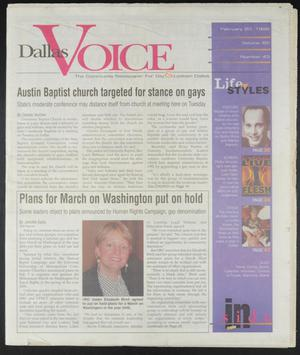 Primary view of object titled 'Dallas Voice (Dallas, Tex.), Vol. 14, No. 43, Ed. 1 Friday, February 20, 1998'.