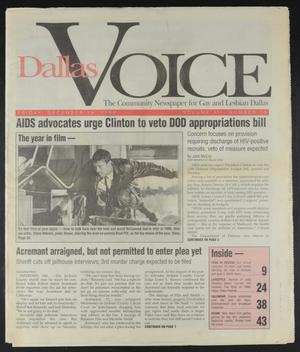Primary view of object titled 'Dallas Voice (Dallas, Tex.), Vol. 12, No. 35, Ed. 1 Friday, December 29, 1995'.