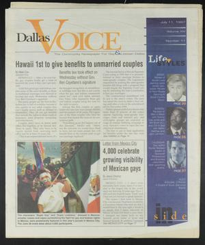Primary view of object titled 'Dallas Voice (Dallas, Tex.), Vol. 14, No. 11, Ed. 1 Friday, July 11, 1997'.