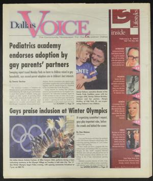 Primary view of object titled 'Dallas Voice (Dallas, Tex.), Vol. 18, No. 42, Ed. 1 Friday, February 8, 2002'.