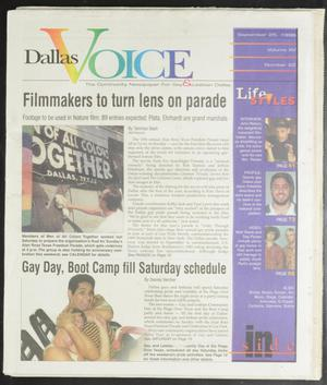 Primary view of object titled 'Dallas Voice (Dallas, Tex.), Vol. 15, No. 22, Ed. 1 Friday, September 25, 1998'.