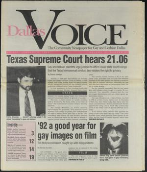 Primary view of object titled 'Dallas Voice (Dallas, Tex.), Vol. 9, No. 37, Ed. 1 Friday, January 8, 1993'.