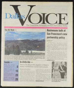 Primary view of object titled 'Dallas Voice (Dallas, Tex.), Vol. 13, No. 36, Ed. 1 Friday, January 3, 1997'.