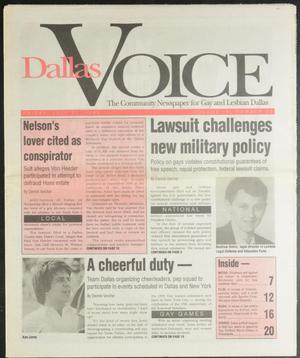 Primary view of object titled 'Dallas Voice (Dallas, Tex.), Vol. 10, No. 13, Ed. 1 Friday, July 30, 1993'.