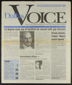 Primary view of object titled 'Dallas Voice (Dallas, Tex.), Vol. 12, No. 39, Ed. 1 Friday, January 26, 1996'.