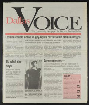 Primary view of object titled 'Dallas Voice (Dallas, Tex.), Vol. 12, No. 33, Ed. 1 Friday, December 15, 1995'.