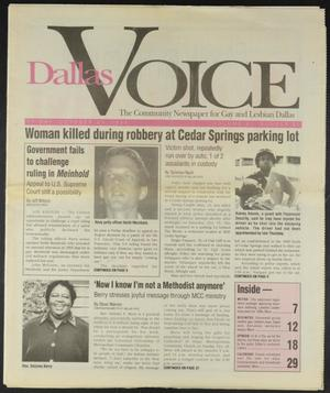 Primary view of object titled 'Dallas Voice (Dallas, Tex.), Vol. 11, No. 25, Ed. 1 Friday, October 21, 1994'.
