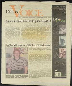 Primary view of object titled 'Dallas Voice (Dallas, Tex.), Vol. 14, No. 13, Ed. 1 Friday, July 25, 1997'.