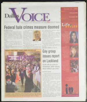 Primary view of object titled 'Dallas Voice (Dallas, Tex.), Vol. 16, No. 25, Ed. 1 Friday, October 22, 1999'.