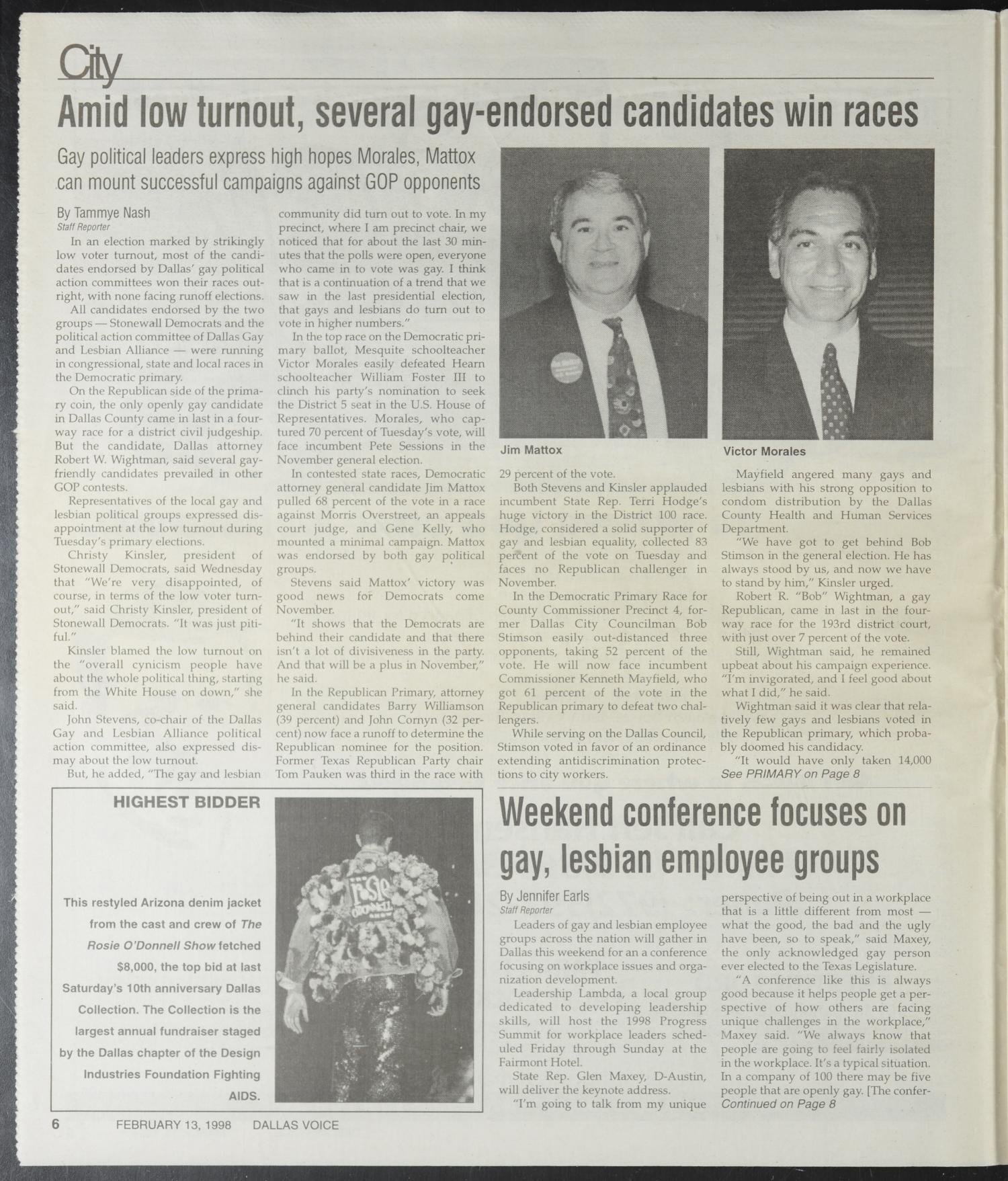 Dallas Voice (Dallas, Tex.), Vol. 14, No. 46, Ed. 1 Friday, March 13, 1998                                                                                                      [Sequence #]: 6 of 72