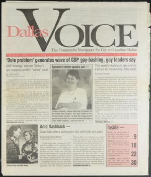 Primary view of object titled 'Dallas Voice (Dallas, Tex.), Vol. 13, No. 3, Ed. 1 Friday, May 17, 1996'.