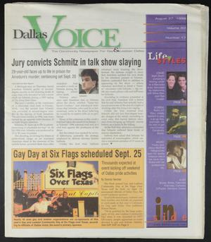 Primary view of object titled 'Dallas Voice (Dallas, Tex.), Vol. 16, No. 17, Ed. 1 Friday, August 27, 1999'.