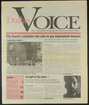 Primary view of object titled 'Dallas Voice (Dallas, Tex.), Vol. 11, No. 36, Ed. 1 Friday, January 20, 1995'.