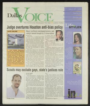 Primary view of object titled 'Dallas Voice (Dallas, Tex.), Vol. 14, No. 48, Ed. 1 Friday, March 27, 1998'.
