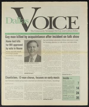 Primary view of object titled 'Dallas Voice (Dallas, Tex.), Vol. 11, No. 45, Ed. 1 Friday, March 17, 1995'.