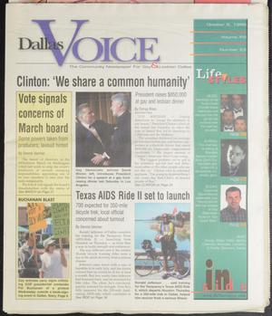Primary view of object titled 'Dallas Voice (Dallas, Tex.), Vol. 16, No. 23, Ed. 1 Friday, October 8, 1999'.