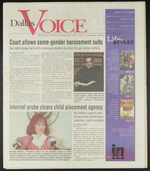Primary view of object titled 'Dallas Voice (Dallas, Tex.), Vol. 14, No. 45, Ed. 1 Friday, March 6, 1998'.