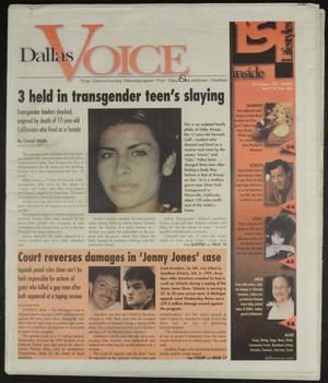 Primary view of object titled 'Dallas Voice (Dallas, Tex.), Vol. 19, No. 26, Ed. 1 Friday, October 25, 2002'.