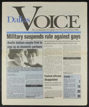 Primary view of object titled 'Dallas Voice (Dallas, Tex.), Vol. 10, No. 23, Ed. 1 Friday, October 15, 1993'.