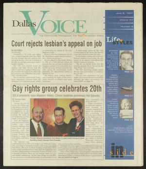 Primary view of object titled 'Dallas Voice (Dallas, Tex.), Vol. 14, No. 6, Ed. 1 Friday, June 6, 1997'.