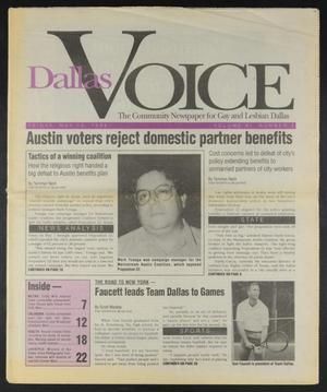 Primary view of object titled 'Dallas Voice (Dallas, Tex.), Vol. 11, No. 2, Ed. 1 Friday, May 13, 1994'.