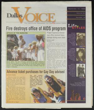 Primary view of object titled 'Dallas Voice (Dallas, Tex.), Vol. 16, No. 19, Ed. 1 Friday, September 10, 1999'.
