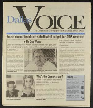 Primary view of object titled 'Dallas Voice (Dallas, Tex.), Vol. 12, No. 11, Ed. 1 Friday, July 14, 1995'.