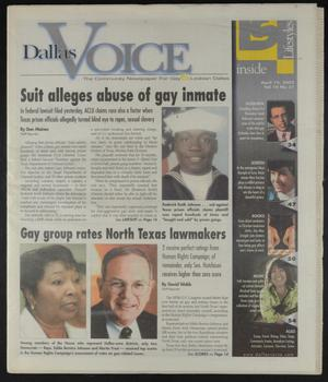 Primary view of object titled 'Dallas Voice (Dallas, Tex.), Vol. 18, No. 51, Ed. 1 Friday, April 19, 2002'.
