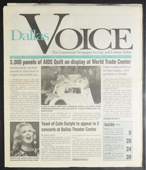 Primary view of object titled 'Dallas Voice (Dallas, Tex.), Vol. 12, No. 31, Ed. 1 Friday, December 1, 1995'.