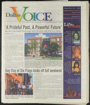 Primary view of object titled 'Dallas Voice (Dallas, Tex.), Vol. 16, No. 21, Ed. 1 Friday, September 24, 1999'.