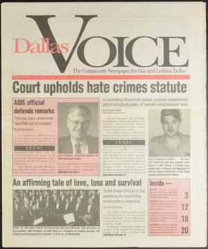 Primary view of object titled 'Dallas Voice (Dallas, Tex.), Vol. 10, No. 7, Ed. 1 Friday, June 18, 1993'.