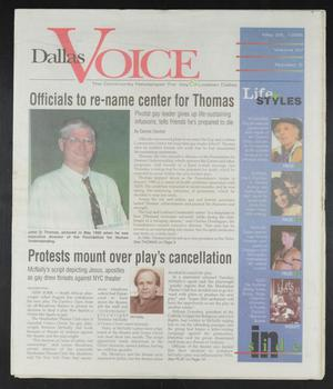 Primary view of object titled 'Dallas Voice (Dallas, Tex.), Vol. 15, No. 5, Ed. 1 Friday, May 29, 1998'.
