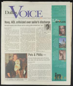 Primary view of object titled 'Dallas Voice (Dallas, Tex.), Vol. 14, No. 38, Ed. 1 Friday, January 16, 1998'.