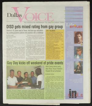 Primary view of object titled 'Dallas Voice (Dallas, Tex.), Vol. 15, No. 20, Ed. 1 Friday, September 11, 1998'.