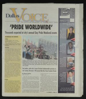 Primary view of object titled 'Dallas Voice (Dallas, Tex.), Vol. 19, No. 21, Ed. 1 Friday, September 20, 2002'.