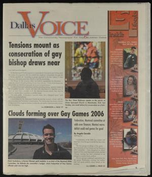 Primary view of object titled 'Dallas Voice (Dallas, Tex.), Vol. 20, No. 28, Ed. 1 Friday, October 31, 2003'.