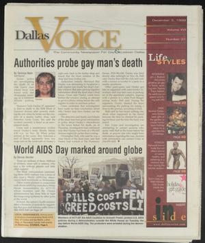 Primary view of object titled 'Dallas Voice (Dallas, Tex.), Vol. 16, No. 31, Ed. 1 Friday, December 3, 1999'.