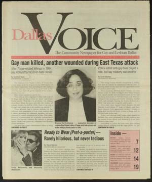 Primary view of object titled 'Dallas Voice (Dallas, Tex.), Vol. 11, No. 35, Ed. 1 Friday, January 6, 1995'.