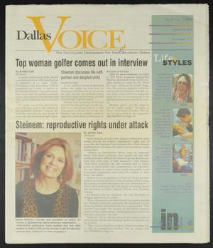 Primary view of object titled 'Dallas Voice (Dallas, Tex.), Vol. 14, No. 51, Ed. 1 Friday, April 17, 1998'.