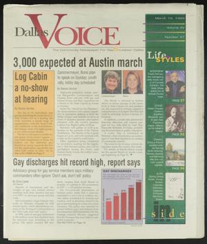 Primary view of object titled 'Dallas Voice (Dallas, Tex.), Vol. 15, No. 47, Ed. 1 Friday, March 19, 1999'.